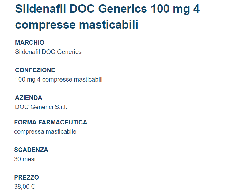 Sildenafil Doc should be prescribed by the doctor before preparing the drug